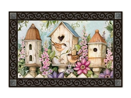 Cottage Birdhouse MatMate Doormat