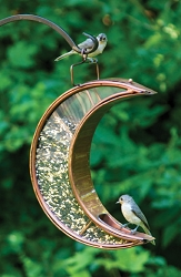 Crescent Moon Bird Feeder Venetian Bronze