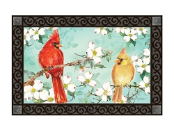 Cardinals in Spring MatMate Doormat