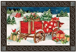Christmas Farm Wagon MatMate Doormat