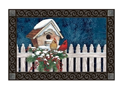 Winter Home Cardinals MatMate Doormat