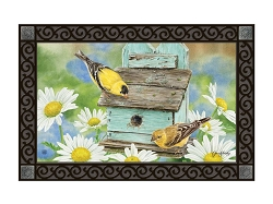 Finches and Flowers MatMate Doormat