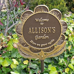 Garden Flower Personalized Garden Plaque