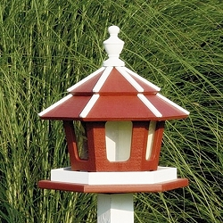 Amish Recycled Poly 3-Chamber Gazebo Bird Feeder