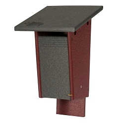 Amish Recycled Poly Sparrow Resistant Slot Bluebird House