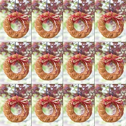 Flaming Hot Pepper Edible Bird Seed Wreath 12/Pack