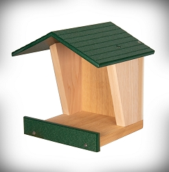 Open Style Cedar and Poly Robin Roost Green