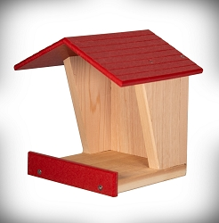 Open Style Cedar and Poly Robin Roost Red