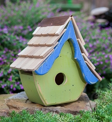 Tweetsie Bird House Green/Blue
