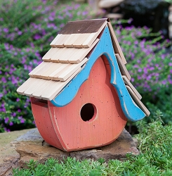 Tweetsie Bird House Orange/Teal
