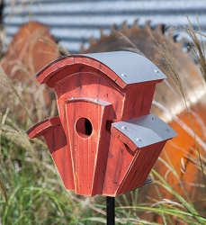 Steam Piper Birdhouse Cypress/Redwood