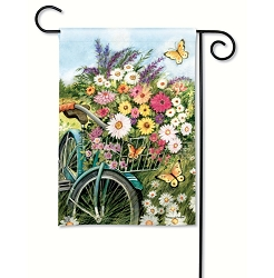 Morning Ride Garden Flag