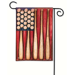 Baseball Season Garden Flag