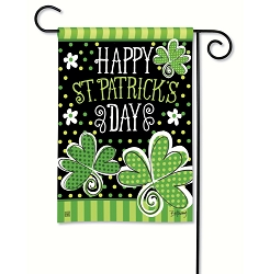 St. Pat's Shamrocks Garden Flag