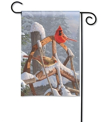 Fresh Snow Garden Flag