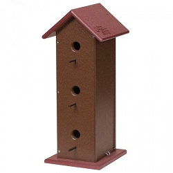 Amish Recycled Poly Three Story Bird House
