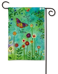 Live Your Dream Garden Flag