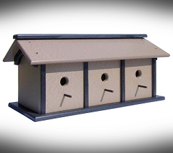Amish Recycled Poly Triple Condo Bird House