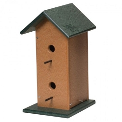 Amish Recycled Poly Two Story Bird House