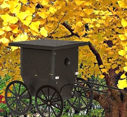 Amish Recycled Poly Buggy Wren House