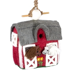 Wild Woolies Country Stable Felt Birdhouse
