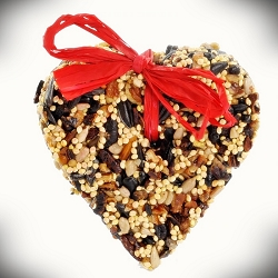 Little Heart Bird Seed Ornament Set of 48