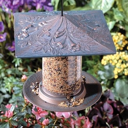 Classic Trumpet Vine Seed Tube Feeder Small Copper Verdi