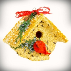 Wren Casita Christmas Cardinal Edible Birdhouse