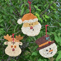 Christmas Cookie Bird Seed Ornament Set of 24
