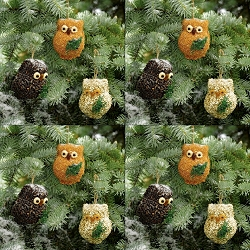 Ollie the Owl Bird Seed Ornament Set of 12