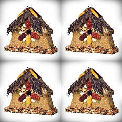 Rustic Sparrow Edible Birdhouse 4/Pack