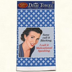 Some Call It Retro Dish Towel