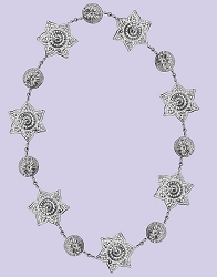 Punched Metal & Bead Garland Flower