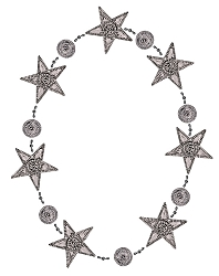 Punched Metal & Bead Garland Star