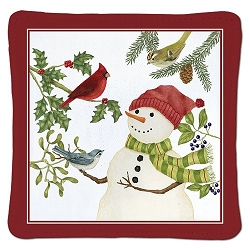 Snowman Spiced Mug Mat Set of 2