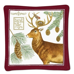 Holiday Deer Spiced Mug Mat Set of 2