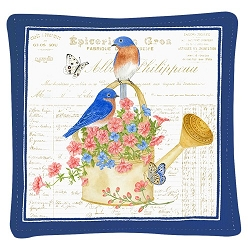 Bluebirds Spiced Mug Mat Set of 2