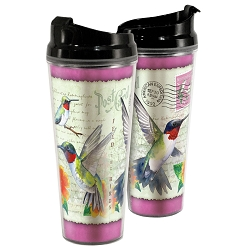 Hummingbird Postcard Acrylic Tall Tumbler 24 oz. Set of 2
