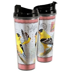 American Goldfinch Postcard Acrylic Tall Tumbler 24 oz. Set of 2