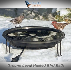 Heated Ground Level Bird Bath