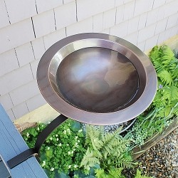 Achla Classic II Birdbath with Rail Bracket