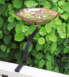 Achla Copper Bee Fountain & Birdbath with Rail Bracket