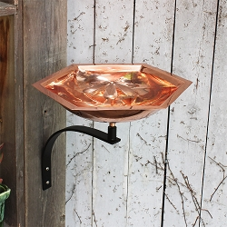 Achla Copper Bee Fountain and Birdbath with Wall Bracket