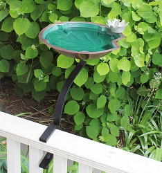 Achla Lily Pad Birdbath with Rail Bracket