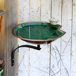 Achla Lily Pad Birdbath with Wall Bracket