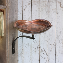 Achla Dara Knot Birdbath with Wall Bracket