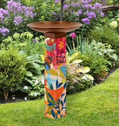 Sentimental Journey Art Pole Birdbath 5x5