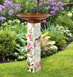 Sing For Joy Art Pole Birdbath 5x5