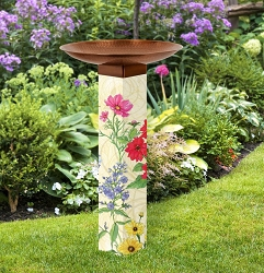 Cutting Garden Art Pole Birdbath 5x5
