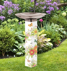 Choose Happy Art Pole Birdbath 5x5